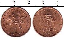 Изображение Монеты Ямайка 1 цент 1974 Медь UNC-