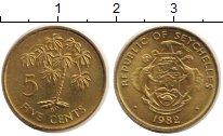 Изображение Монеты Сейшелы 5 центов 1982 Латунь UNC-