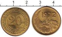 Изображение Монеты Алжир 20 сантимов 1972 Латунь UNC-