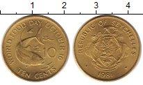 Изображение Монеты Сейшелы 10 центов 1981 Латунь UNC-