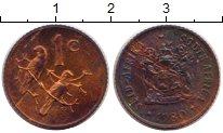 Изображение Монеты ЮАР 1 цент 1980 Медь XF