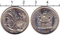 Изображение Монеты ЮАР 20 центов 1980 Медно-никель UNC- цветок