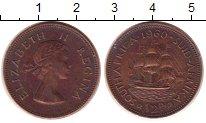 Изображение Монеты ЮАР 1/2 пенни 0 Медь XF Елизавета II. Парусн