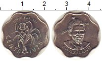 Изображение Монеты Свазиленд 10 центов 1975 Медно-никель XF