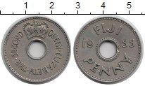 Изображение Монеты Фиджи 1 пенни 1955 Медно-никель XF