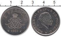Изображение Монеты Монако 2 франка 1982 Медно-никель XF