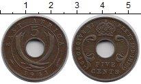 Изображение Монеты Восточная Африка 5 центов 1941 Медь XF