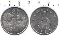 Изображение Монеты Зимбабве 1 доллар 1980 Медно-никель UNC-