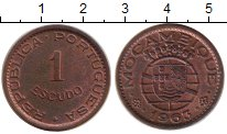 Изображение Монеты Мозамбик 1 эскудо 1963 Медь XF Протекторат  Португа