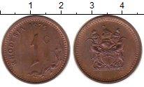 Изображение Монеты Родезия 1 цент 1975 Медь XF Герб