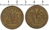 Изображение Монеты Западно-Африканский Союз 25 франков 1957 Латунь XF