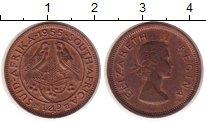Изображение Монеты ЮАР 1/4 пенни 1955 Медь XF Елизавета II