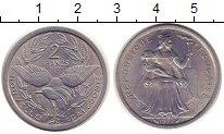 Изображение Монеты Новая Каледония 2 франка 1977 Алюминий XF Французская