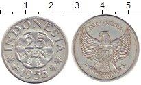 Изображение Монеты Индонезия 25 сен 1955 Алюминий VF