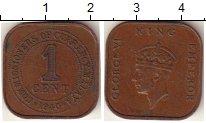 Изображение Монеты Малайя 1 цент 1940 Медь VF