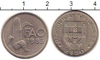 Изображение Монеты Португалия 2 1/2 эскудо 1983 Медно-никель XF