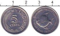 Изображение Монеты Сингапур 5 центов 1971 Алюминий XF ФАО
