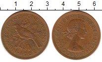 Изображение Монеты Новая Зеландия 1 пенни 1962 Медь VF