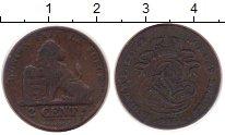 Изображение Монеты Бельгия 2 сантима 1864 Медь XF Леопольд I