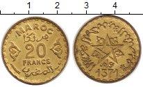 Изображение Монеты Марокко 20 франков 1371 Латунь XF