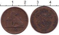 Изображение Монеты Бельгия 2 сантима 1878 Медь XF