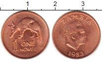 Изображение Монеты Замбия 1 нгвей 1983 Медь XF