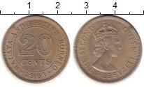 Изображение Монеты Малайя 20 центов 1961 Медно-никель XF Елизавета II
