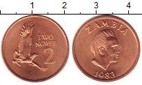 Изображение Монеты Замбия 2 нгвея 1983 Медь UNC-