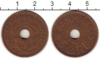 Изображение Монеты Дания 5 эре 1939 Бронза XF
