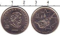 Изображение Монеты Канада 25 центов 2008 Медно-никель UNC- Елизавета II.  Олимп
