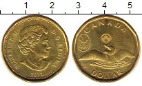 Изображение Монеты Канада 1 доллар 2012 Латунь UNC-