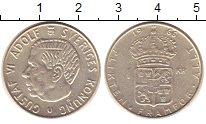 Изображение Монеты Швеция 1 крона 1966 Серебро XF