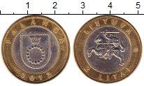 Изображение Монеты Литва 2 лит 2012 Биметалл XF Паланга