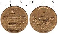 Изображение Монеты Финляндия 5 марок 1984 Латунь UNC