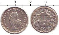 Изображение Монеты Швейцария 1/2 франка 1909 Серебро VF