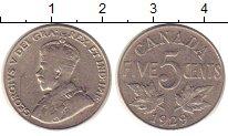 Изображение Монеты Канада 5 центов 1929 Медно-никель XF