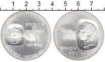 Изображение Монеты Венесуэла 10 боливар 1973 Серебро UNC-