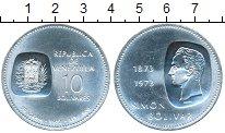 Изображение Монеты Венесуэла 10 боливар 1973 Серебро UNC- 100 лет Симону Болив