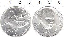 Изображение Монеты Италия 1000 лир 1996 Серебро UNC Эугенио  Монтайе