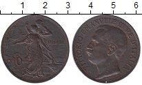 Изображение Монеты Италия 10 сентесим 1911 Бронза XF 50 лет Республики