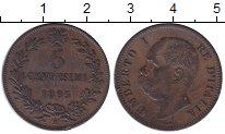 Изображение Монеты Италия 5 сентим 1895 Бронза XF