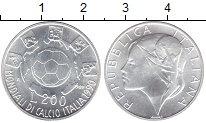 Изображение Монеты Италия 200 лир 1989 Серебро UNC-
