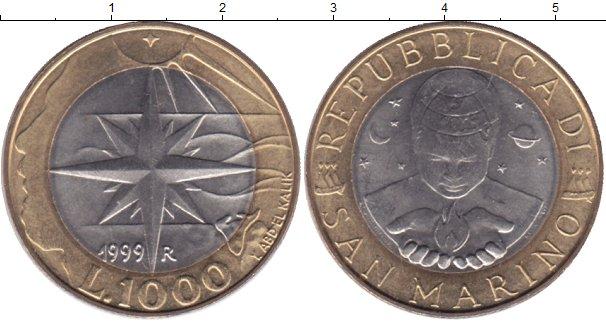 Картинка Мелочь Сан-Марино 1.000 лир Биметалл 1999