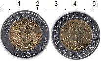 Изображение Монеты Сан-Марино 500 лир 1999 Биметалл UNC- Вселенная