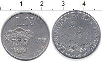 Изображение Монеты Сан-Марино 10 лир 1993 Алюминий UNC-