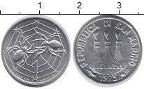 Изображение Монеты Сан-Марино 1 лира 1975 Алюминий UNC-