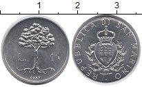 Изображение Монеты Сан-Марино 1 лира 1987 Алюминий UNC-