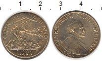 Изображение Монеты Ватикан 200 лир 1982 Латунь UNC-
