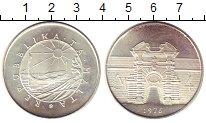 Изображение Монеты Мальта 4 фунта 1976 Серебро UNC- Крепостные  ворота