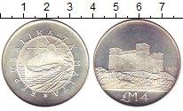 Изображение Монеты Мальта 4 фунта 1975 Серебро UNC- Крепость